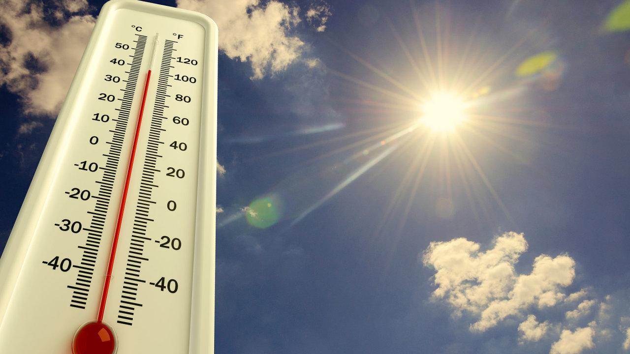 vedro, teplo, počasí, teploměr