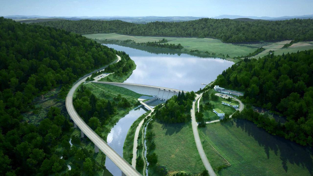 Kzahájení stavby má nejblíže přehrada Nové Heřminovy naBruntálsku.