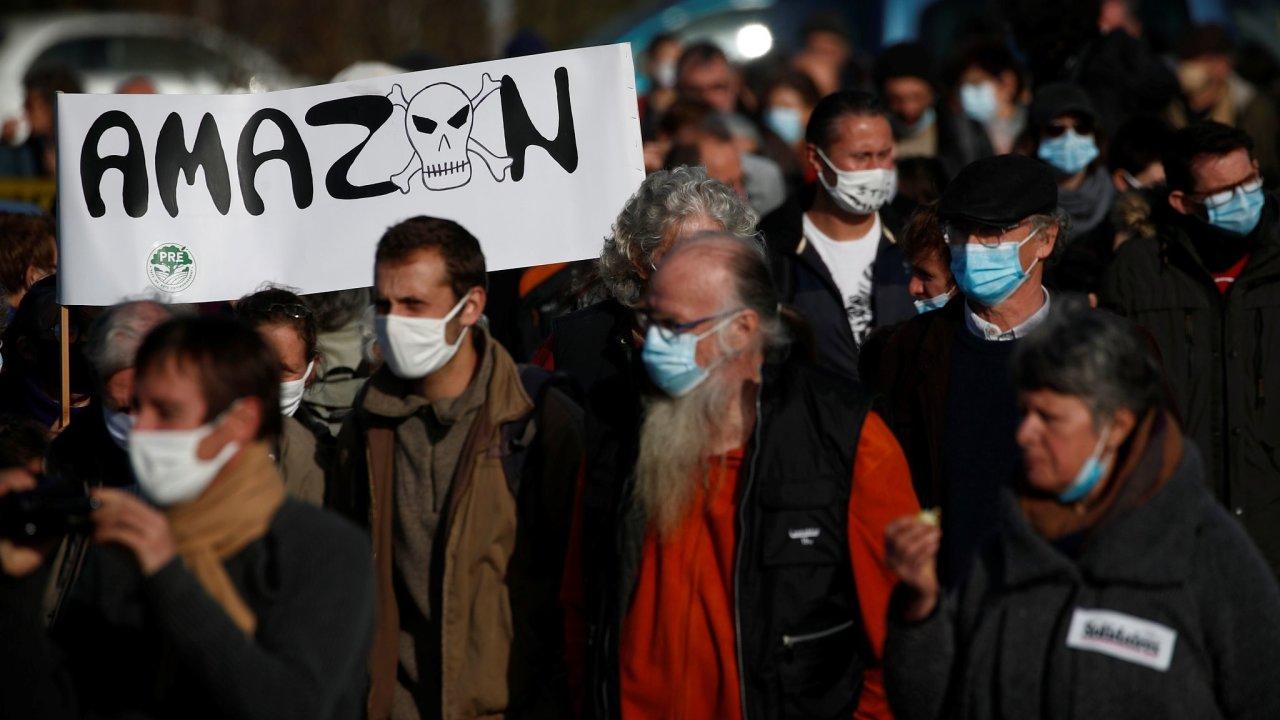 protest Amazon Francie