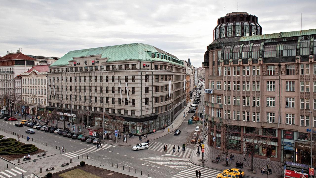 V budově Komerční banky na rohu Václavského náměstí bude možná sídlit tzv. CzechHouse.