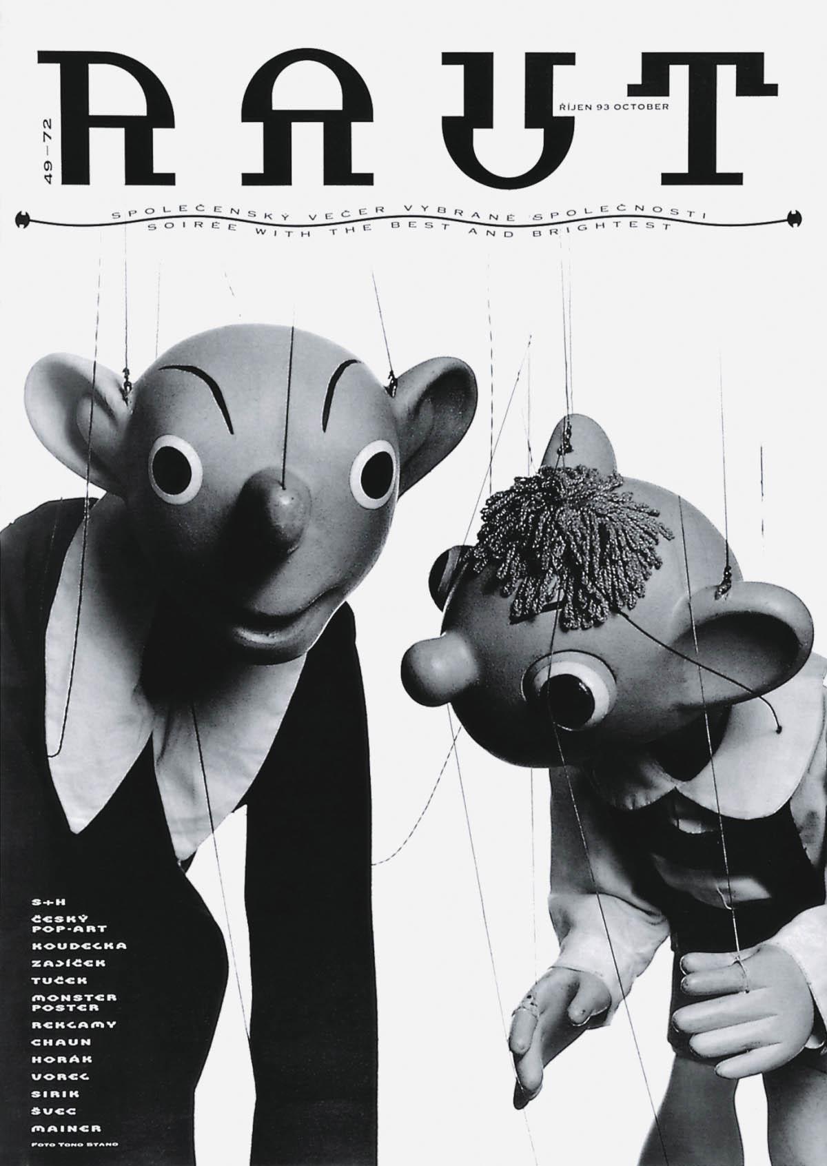 30 let starý plakát Spejbla aHurvínka zčasopisu RAUT