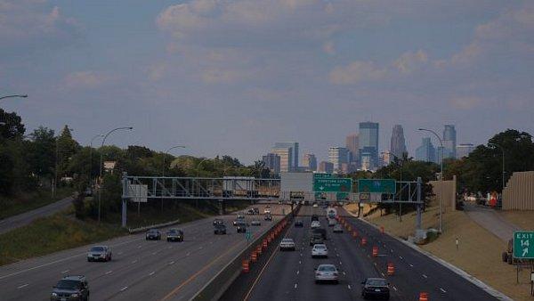Dálnice v americkém Minneapolis