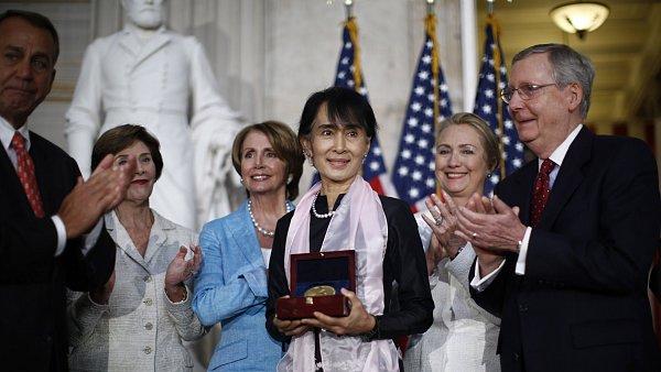 Su Ťij po předání medaile