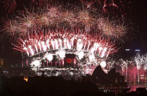 Novoroční ohňostroj v australském Sydney