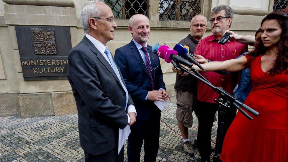 Jan Burian (vlevo) a Jiří Balvín se v pátek dohodli, že se ještě dohodnou.