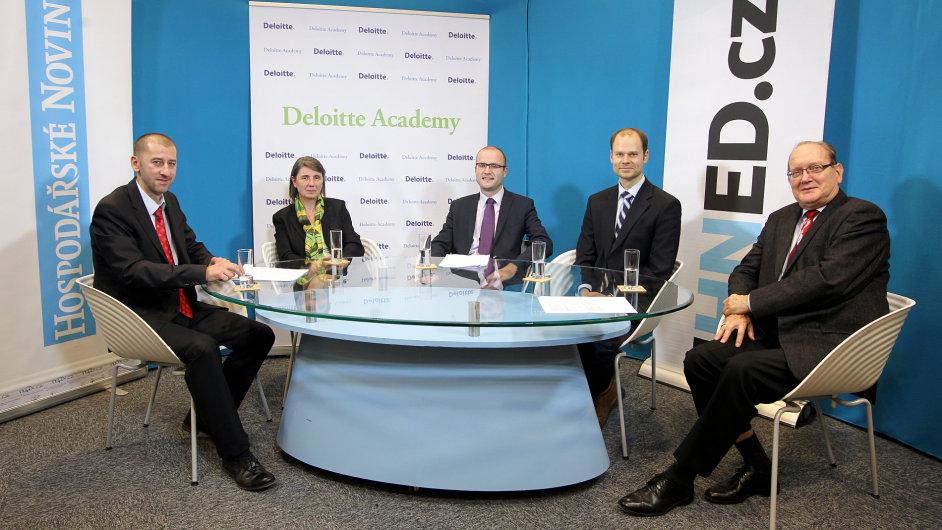 Debatu Byznys Online pořádaly Hospodářské noviny a Deloitte Academy.