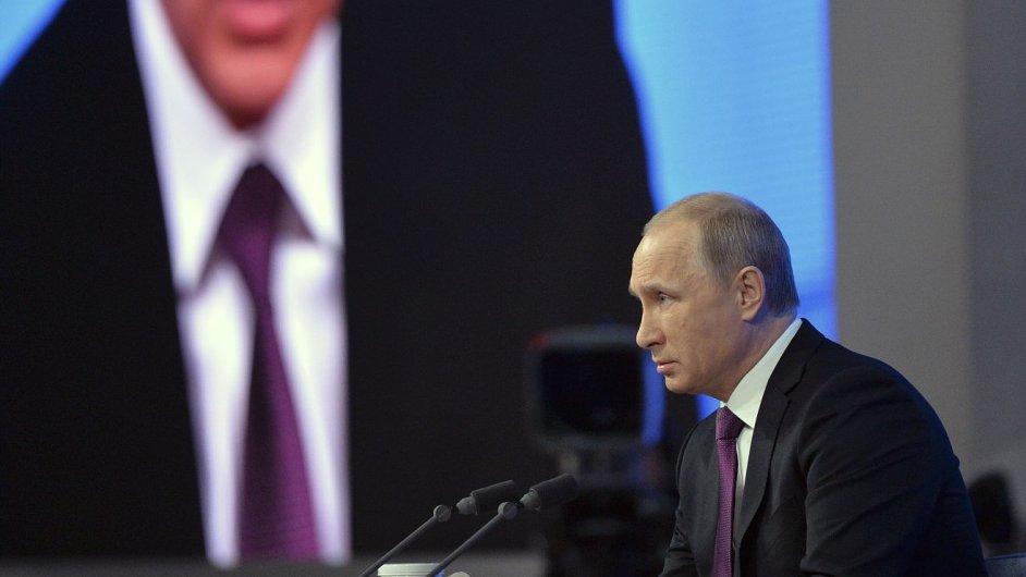 Vladimir Putin na tiskové konferenci