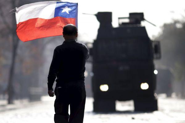 Další demonstraci studentů v Chile rozehnala policie.