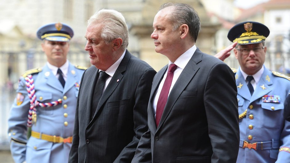 Miloš Zeman a Andrej Kiska.
