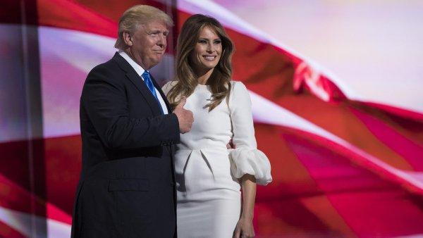 Donald Trump se ženou Melanií.