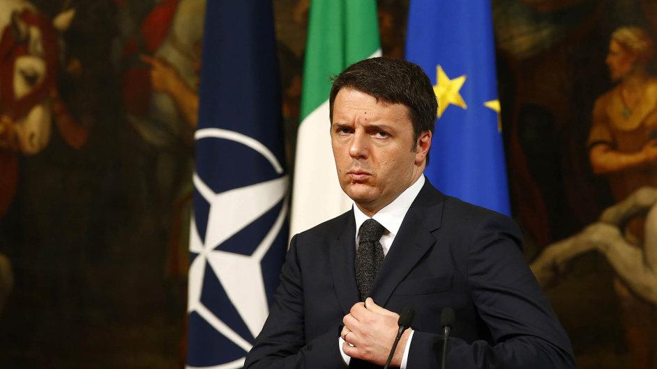 Premiér Matteo Renzi může ohlásit růst italské ekonomiky po třech a půl letech.