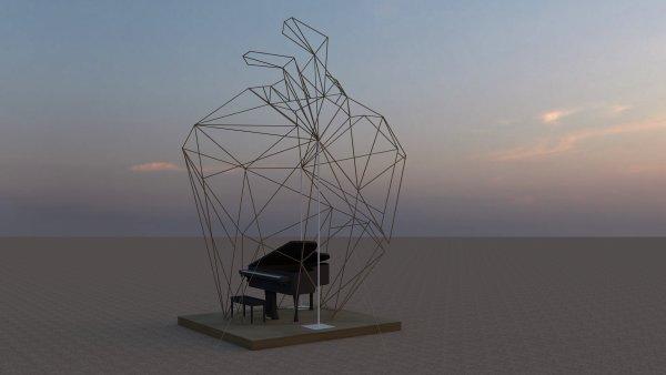 Vizualizace vítězného českého díla Heardt, které bude k vidění na festivalu Burning Man.