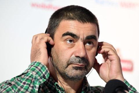 Na snímku z představení filmu Chibula je režisér George Ovašvili.