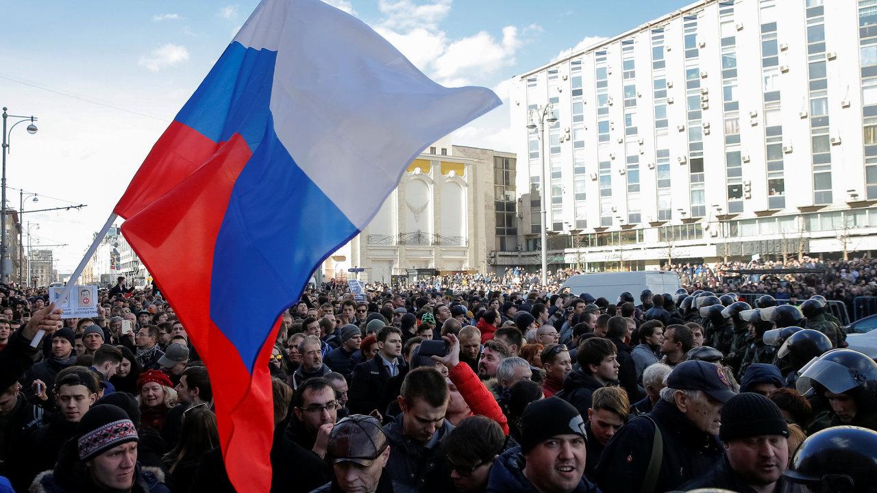 Rusko, protest, demonstrace