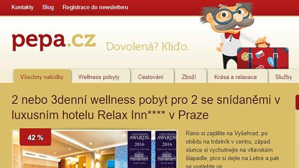 Slevový portál Pepa.cz se vrací na původní doménu.