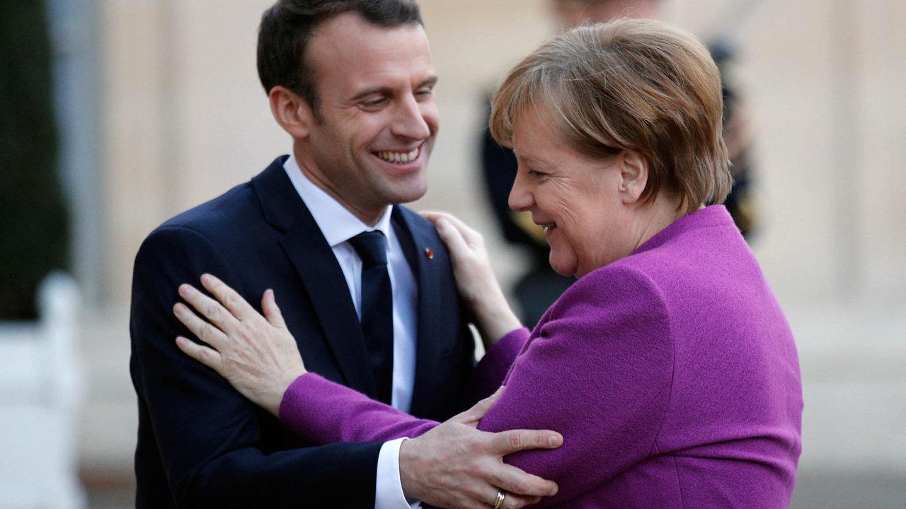 Angela Merkelová a Emmanuel Macron.