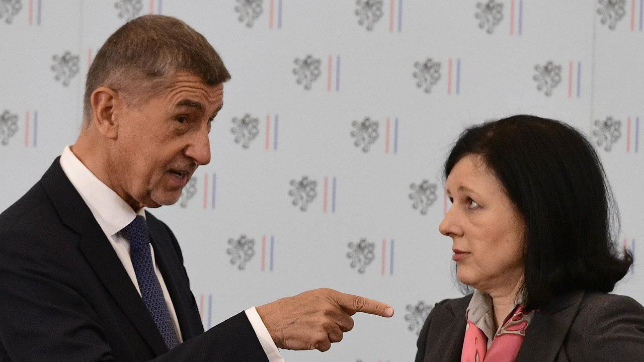 Česká eurokomisařka Věra Jourová (ANO) by podle Andreje Babiše měla řídit mezinárodní obchod, digitalizaci nebo vnitřní trh.