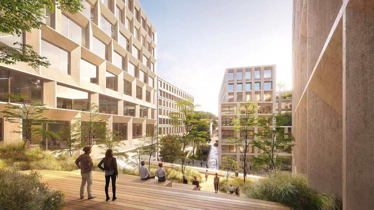 Vprojektu Smíchov City developera Sekyra Group vPraze 5 propojí téměř kilometr dlouhá pěší městská třída náměstí NaKnížecí sbudovou smíchovského nádraží.