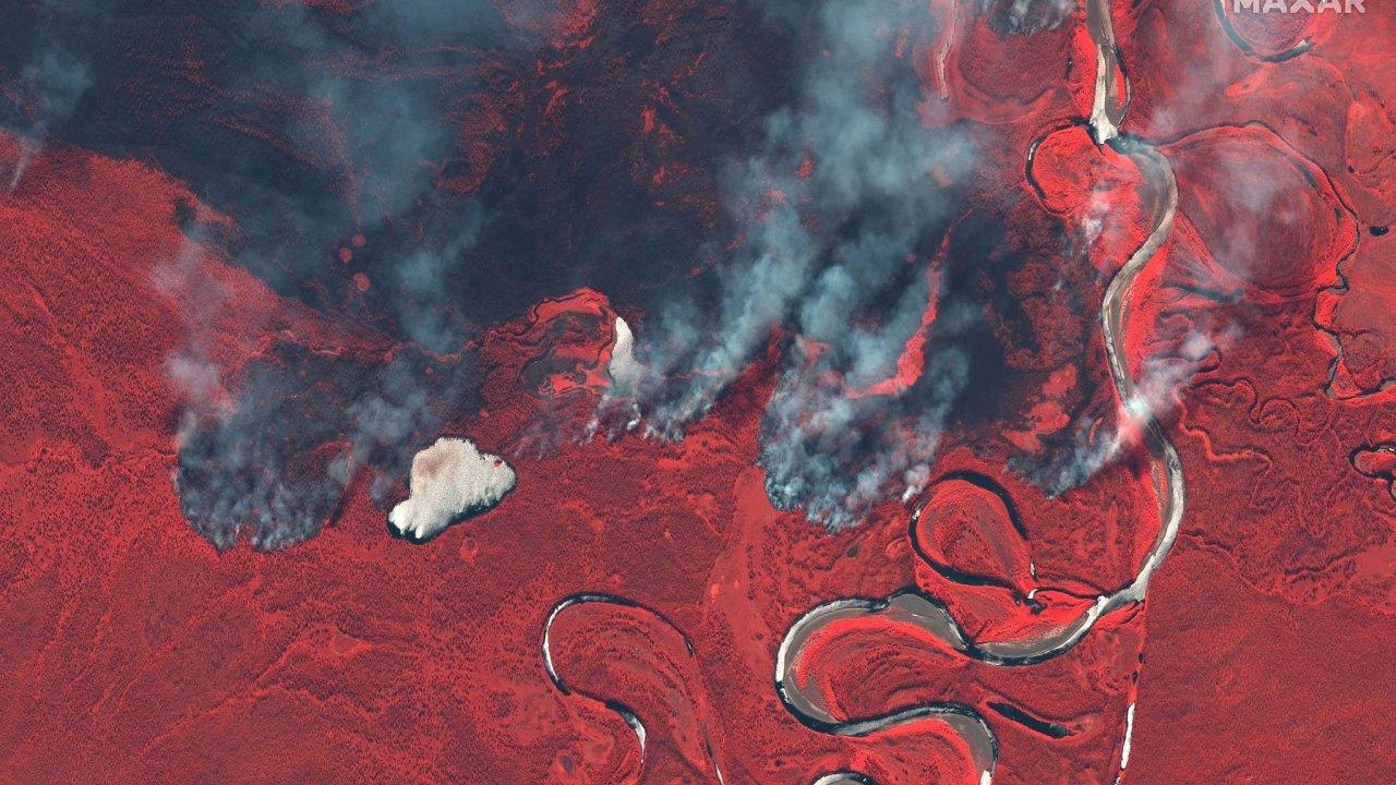 Rusko, Sibiř, požáry