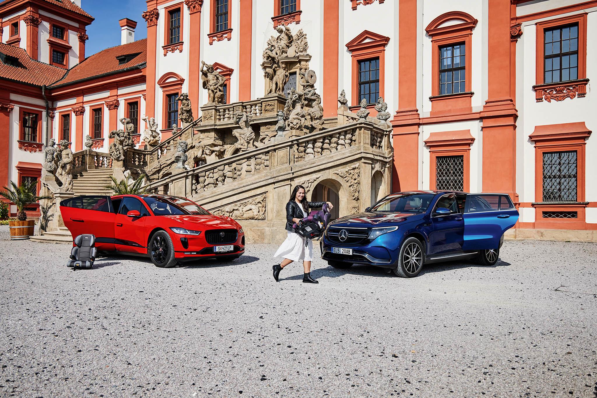 Gabriela Marešová: Jaguar i-Pace EV400, Mercedes-Benz EQC 400 4Matic