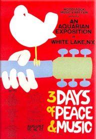Plakát pro legendární první ročník Woodstocku