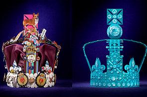 Umělci vytvořili nové koruny pro Alžbětu II. Podívejte se na diamantové i jedlé skvosty