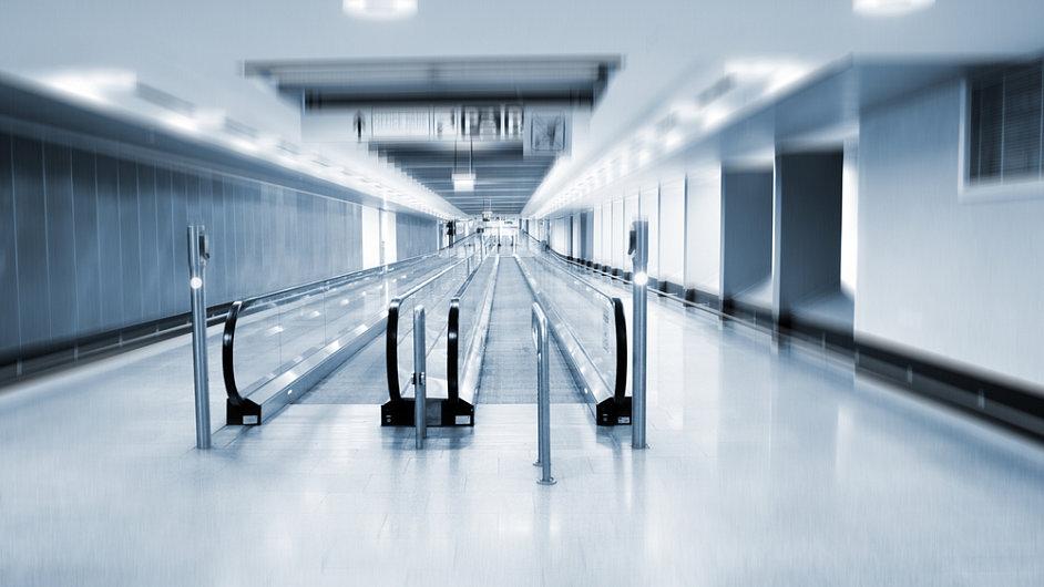 Dopravní pás na letišti.