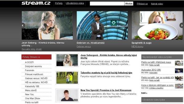 Stream homepage