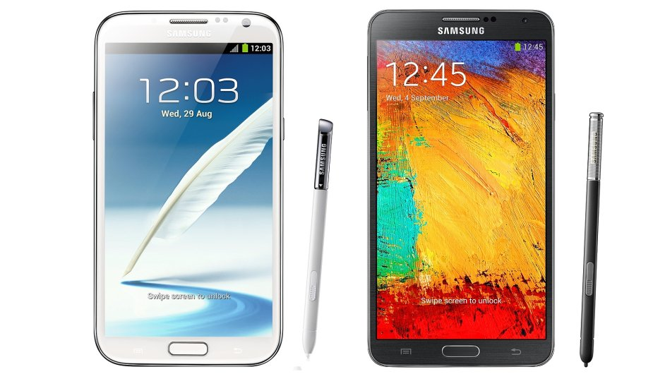 Samsung Galaxy Note II a Note 3