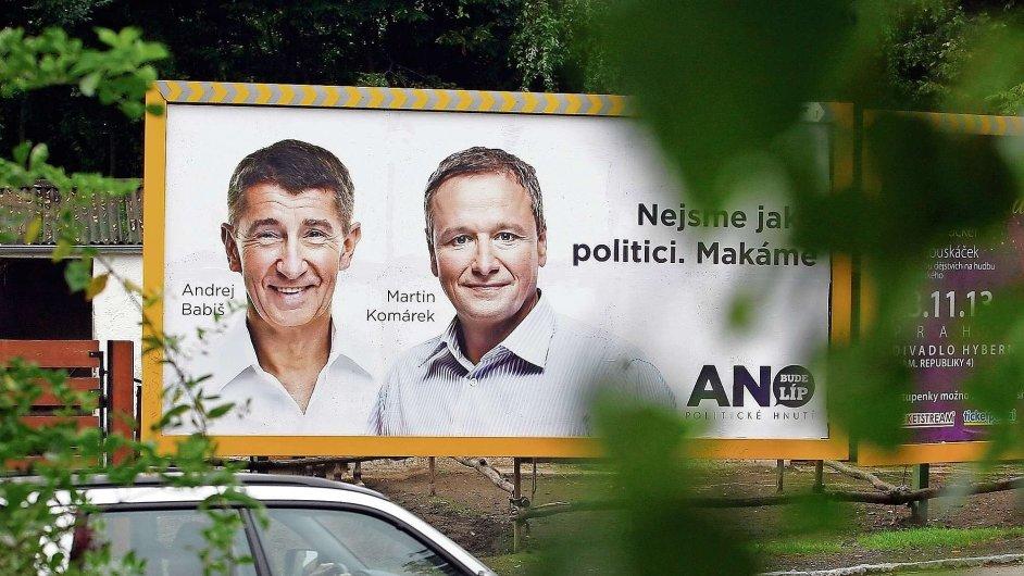 Martin Komárek a Andrej Babiš
