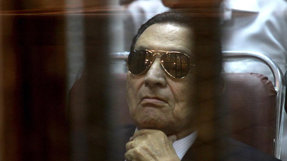 Husní Mubárak u soudu