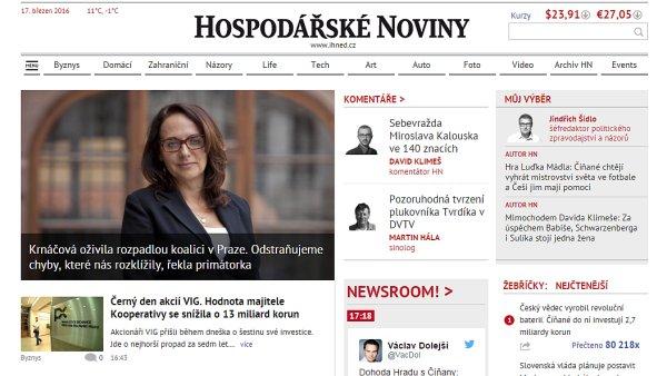 Hospodářské noviny vypnou předplatitelům rušivé reklamy