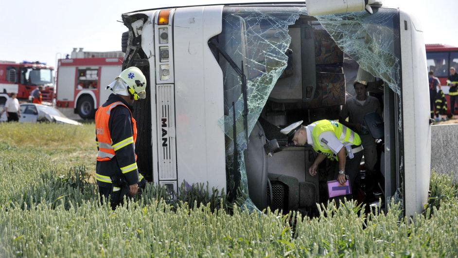 Havárie autobusu, ilustrační snímek.