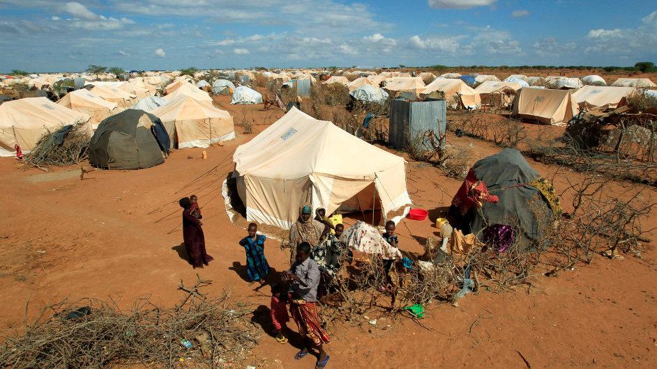 Uprchlický tábor na hranicích Keni a Somálska