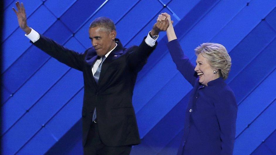 Obama Clinton, sjezd Demokratů
