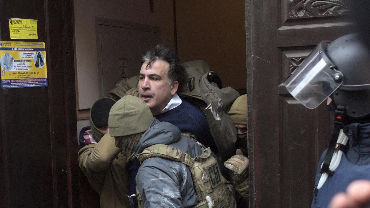 Michail Saakašvili byl zadržen v Kyjevě, Ukrajina