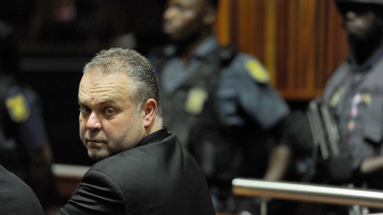 Czech fugitive Radovan Krejcir appears in the Palm Ridge Regional Court on Monday
