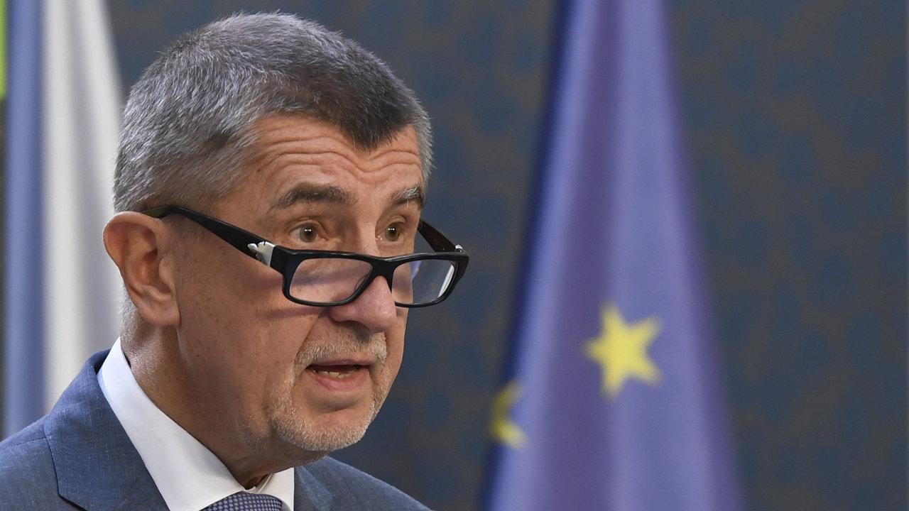 Premiér Andrej Babiš vystoupil 22. června v Praze na tiskové konferenci.