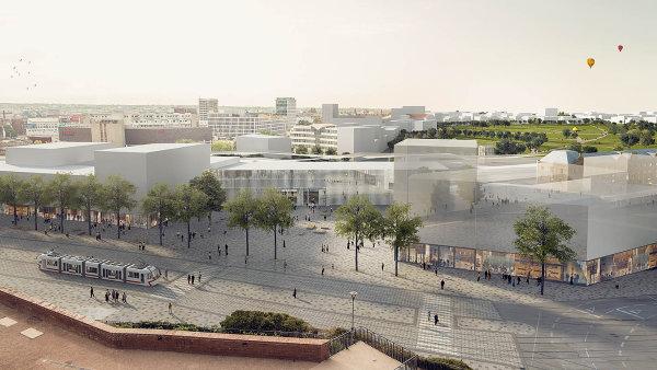 Nové nádraží pod Petrovem, soutěžní návrh Budoucnost centra Brna, 2. cena / consequence forma.