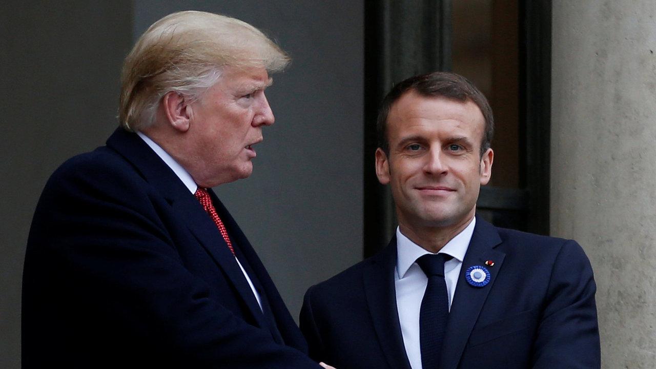 Trump Macron Francie