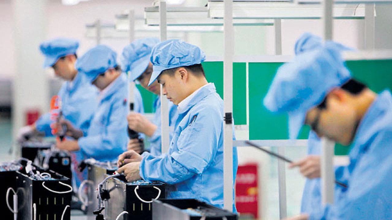 Čínská továrna - Ilustrační foto.