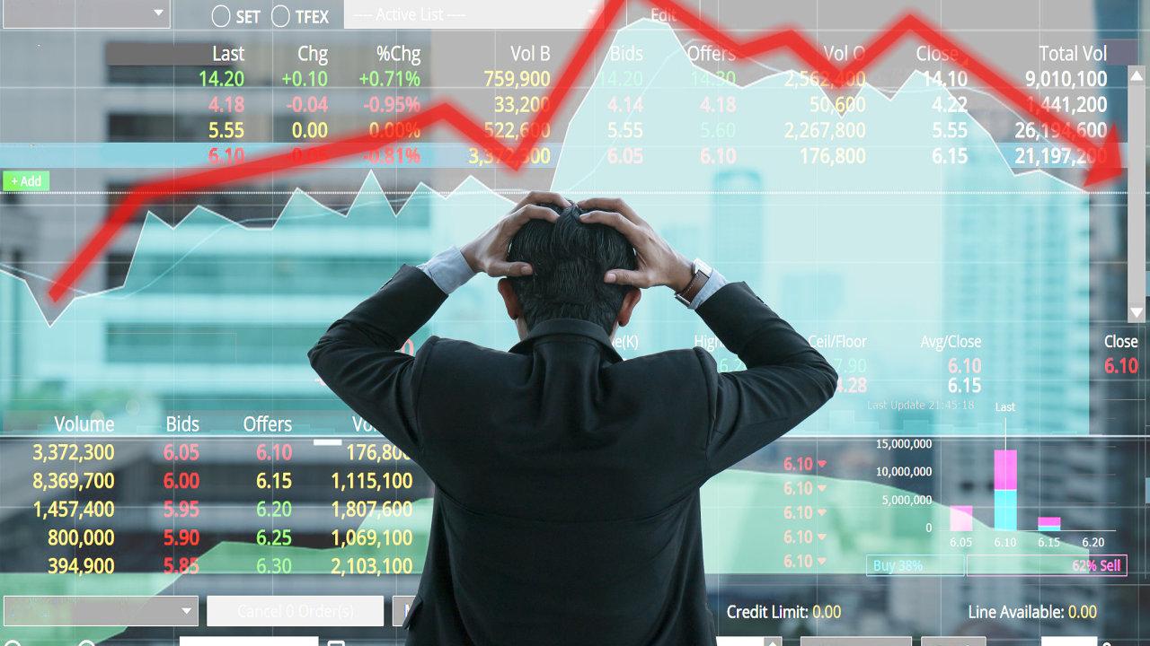 Panika v období recese investicím nesvědčí, ilustrace