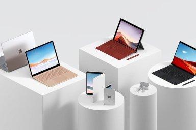 """Microsoft představil zařízení Surface Neo a """"telefon"""" Surface Duo."""