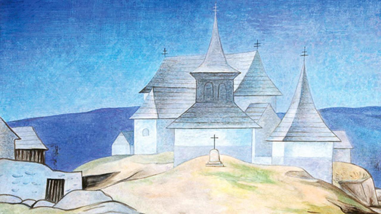 Obraz Kamila Lhotáka nazvaný Kostel vKrásné Hoře nabídne Galerie Art Praha téměř za čtyři miliony korun.