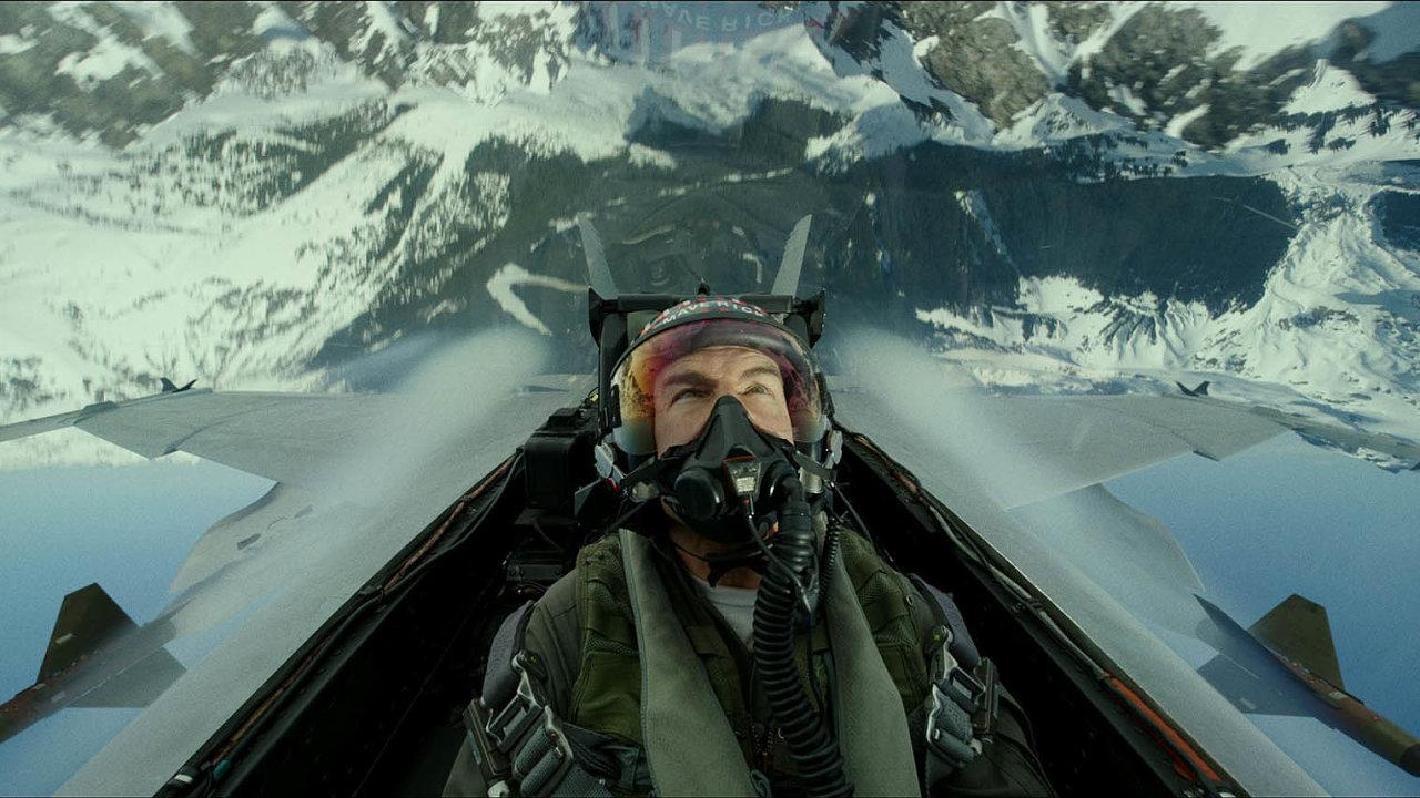 Tom Cruise vefilmu Top Gun: Maverick.