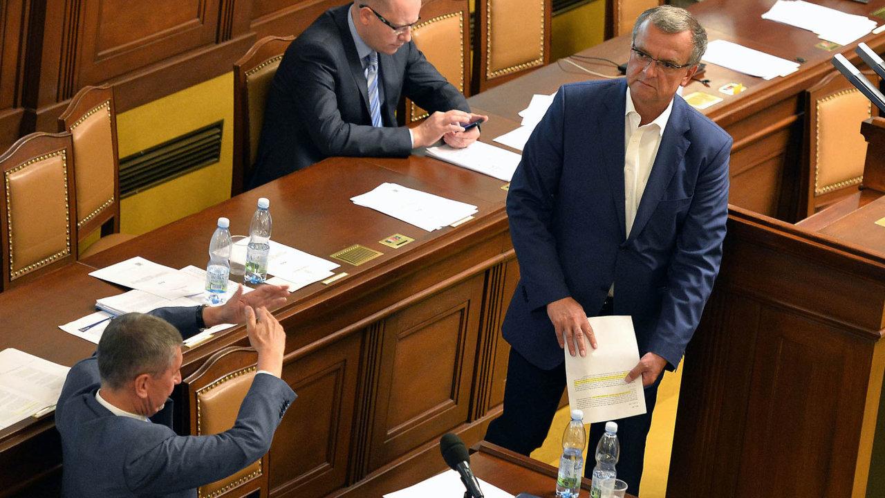 Nejviditelnějšími aktéry politické krize byli v minulých týdnech tři muži: Bohuslav Sobotka, Miroslav Kalousek a Andrej Babiš.