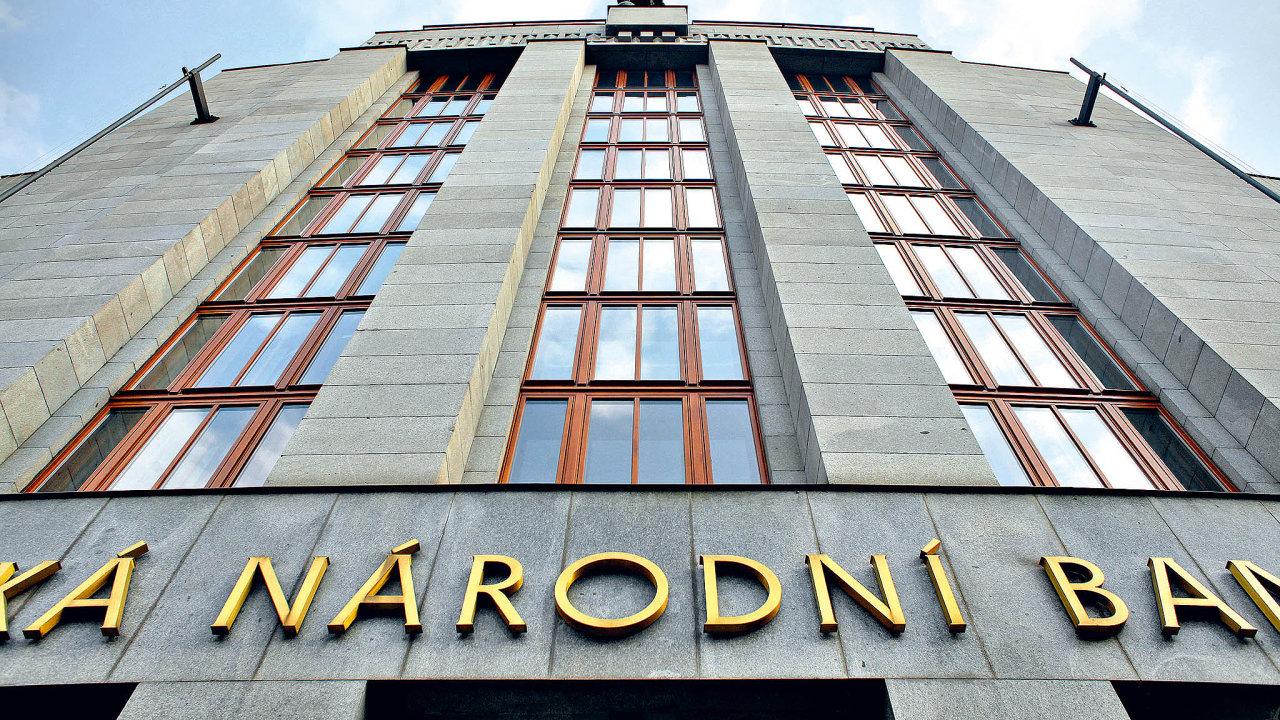 Budova České národní banky v Praze