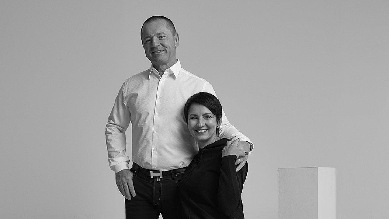 Majitelé holdingu Alca František Fabičovic a Radka Prokopová.