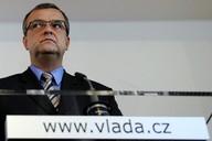 Ministr financí Miroslav Kalousek na tiskové konferenci