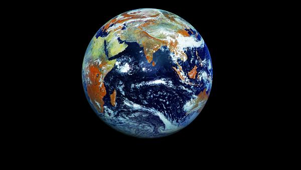 Snímek Země pořízený ruským satelitem Elektro-L 1